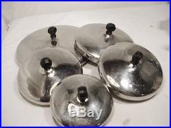 10 Pc Vtg Farberware Pot Pan Cookware Set Lids 6 Qt Stock Pot 1 1.5 2 3 Qt Pots
