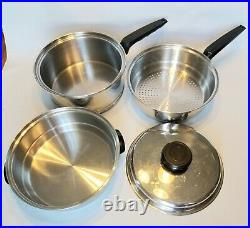 10pc LIFETIME 12 Layer Solar Cap COOKWARE T304cc Stainless Made in USA