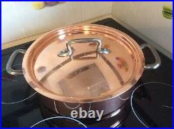 11 inch copper rondeau stockpot Bourgeat Matfer stainless steel No Mauviel 2.5 m