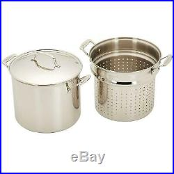 12 Qt. Stainless Steel Stockpot/Pasta Insert/Steamer/Basket/Lid Kitchen Cookware
