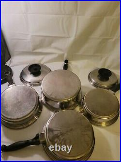 13pc TOWNECRAFT CHEF'S WARE COOKWARE T304 Multicore Stainless Set Towncraft