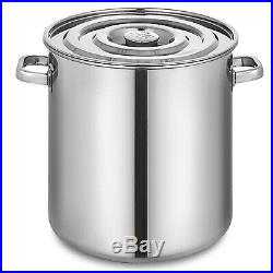 180 QT Stainless Steel Stock Pot Brewing Beer Kettle 170L Heavy Duty Large