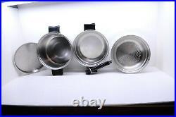 18 piece VTG SaladMaster 18-8 Stainless Cookware Set 6Qt Stockpot, 1,2,3 Qt etc