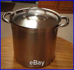 24 QT BOURGEAT STAINLESS STEEL STOCKPOT STEAMER + LID Lobster Clambake FRANCE