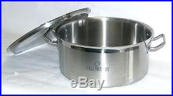 24 Qt Quart Stainless Steel TRI-PLY Capsule Base Braising Canning Low Stock Pot