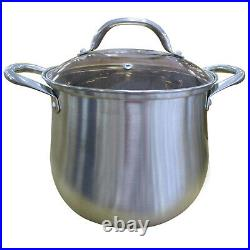 26cm Cookware Stainless Steel Kitchen Pot Stockpot Casserole Pan With Glass Lid