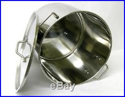 32 QT Quart 8 Gallon Stainless Steel Stock Pot Steamer Brew Kettle with lid rack