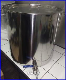 33ltr stainless steel stockpot with tap temperature gauge Hlt Kettle mash tun