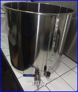 33ltr stainless steel stockpot with tap temperature gauge and sight glass