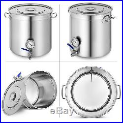 35QT178QT Home Brew Stainless Steel Kettle Brewing Stock Pot Beer Wine Set