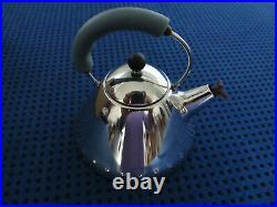 3 x ALESSI MINIATURES Set Of Kettle, Fruit Holder, Stockpot In Stainless Steel