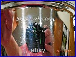 3pc AMWAY QUEEN 4 qt STOCK POT & STEAMER STAINLESS STEEL WATERLESS COOKWARE