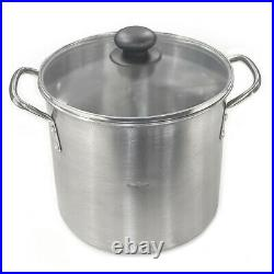 3pc Stainless Steel 7.6/11.4/15.2L Stockpot Pot Large Kitchen Cookware Set withLid