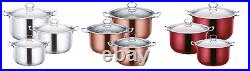 3pc Stainless Steel Stockpot Induction Cookware Casserole Cooking Pot Pan Set
