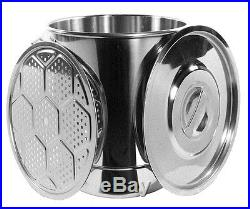 45Qt Stainless Steel Stock Pot Steamer Vaporera Tamalera 12 Gallons Acero NEW