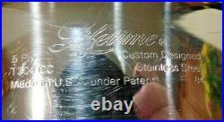 4 Pc Lifetime West Bend 8 Qt Stock Pot Steamer Custom Designed T304cc Stainless