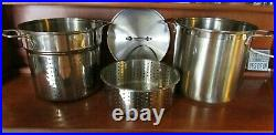 4 Piece ALL-CLAD 12 Qt Stainless Steel Covered Stockpot Pasta Insert & Steamer