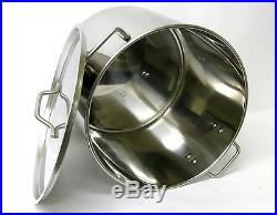 52 QT Quart 13 Gal Stainless Steel Stock Pot Beer Brew Kettle withlid BA76-52 NOTE