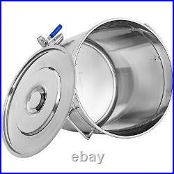 53 QT Stainless Steel Stock Pot Big Cooking Large Kitchen Soup 50L withThermometer