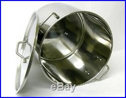 60 QT QUART HD Stainless Steel Stock Beer Brewing Pot Lid Steamer Rack BA79/60