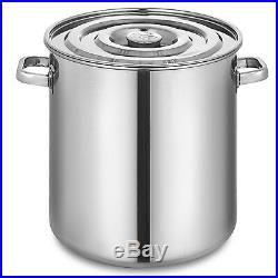 137.5QT Stainless Steel Stock Pot Brewing Beer Kettle 130L With Lid Heavy Duty