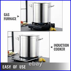 74QT Stainless Steel Stock Pot Brewing Beer Kettle Large Home Use Commercial