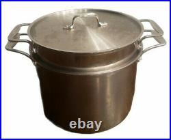 ALL-CLAD 12 QT Multi Cooker Stock Pot, Pasta Strainer & Lid w D5 Stainless
