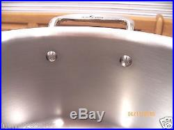 ALL CLAD 8 QT Quart Stock Pot with Lid Stainless Steel Induction
