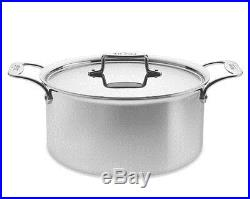 ALL CLAD BRUSHED STAINLESS d5 8 QUART STOCK POT DUTCH OVEN WithLID 1ST QUALITY NIB