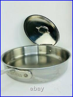 ALL CLAD Cookware 11 Sauté Pan 8 Stock Sauce Pot Stainless W Lids TRI-PLY