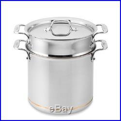 ALL-CLAD Copper Core 7 Quart Pasta Pentola Pot, Insert & Lid NEW witho Box