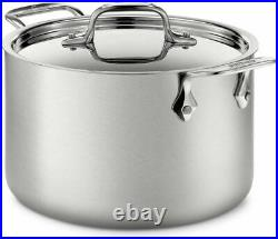 ALL-CLAD D5 Brushed 18/10 Stainless Steel 5-ply Stock Pot 12 quart BD55512 NEW