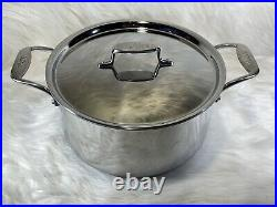 ALL-CLAD D5 Brushed 5-Ply Stainless Steel 8-Quart Stockpot With Lid Made in USA