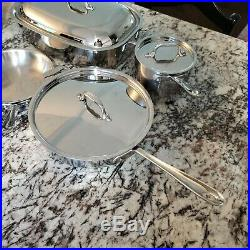 ALL-CLAD Lot of 10 pieces cookware set Stainless