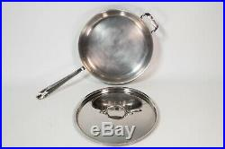 ALL-CLAD Lot of 8 Pieces Cookware Set Stainless Lid Pot Fry Pan All Clad Sauté