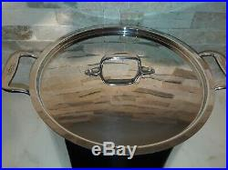 ALL CLAD Stainless Steel 12 Qt. Stock Pot with lid 10 1/2 X 7 3/4