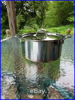 ALL CLAD copper core 8 qt quart STOCK SOUP POT with LID MADE IN AMERICA