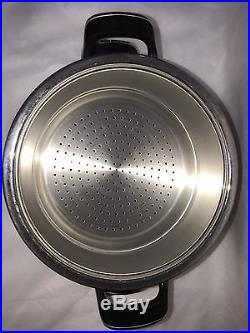 AMC cookware VisioTherm Sauce Pot With Steamer Stock 8095 18/10 Stainless Steel