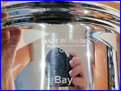 AMERICRAFT KITCHEN CRAFT 8 QT Roaster Stock Pot 7 Ply Stainless Steel Waterless
