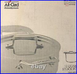 All-Clad 12 Quart Stock Pot with Lid Stainless Steel D5 Technology NIB
