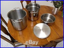All-Clad 12 quart multipot (stockpot, steamer, pasta strainer)