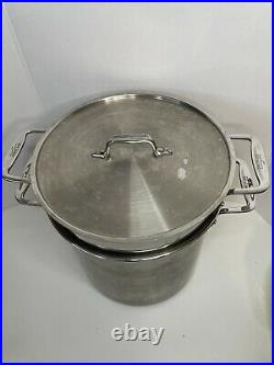 All-Clad 12qt 4pc Stainless Steel Multi-Cooker STOCK POT STEAMER STRAINER + LID