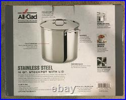 All-Clad 16-Qt. Stockpot With Lid Stainless Steel. Free Shipping