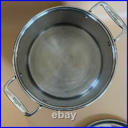 All-Clad 16-Qt. Stockpot With Lid Stainless Steel Great Condition Heavy Base