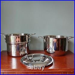 All-Clad 3pc Multi Pot 6 Quart Stainless Steel Pasta Pot, Lid & Strainer