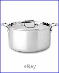All-Clad 4508 Stainless Steel Tri-Ply Bonded 8-qt Stockpot with Lid