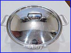 All Clad 6 Qt Stock Pot & LID #506 Metalcrafters Master Chef Stainless Steel USA