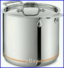 All-Clad 7 Quart Copper Core 5-Ply Stainless Steel Stockpot With LidNEW