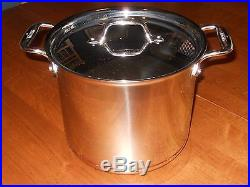 All Clad 7 Quart d5 COPPER CORE #6507 Stainless Steel Tall Stock Pot with lid