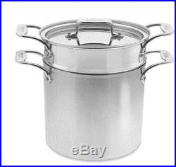 All Clad 7 quart d5 Pasta Pentola Stock Pot Brushed Stainless New Boxed BD55807